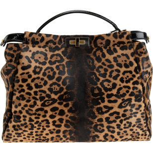 Peekaboo Fur Tote - Animal Print